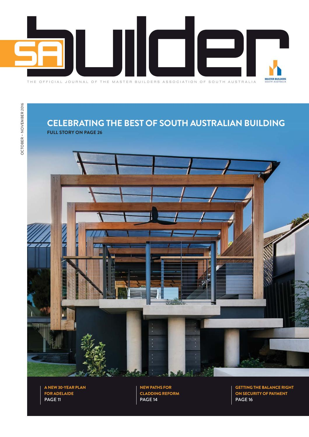 2016 Master Builders Sa Builder Magazine October November