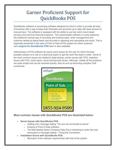 Garner Proficient Support for QuickBooks POS by Ajay Rude