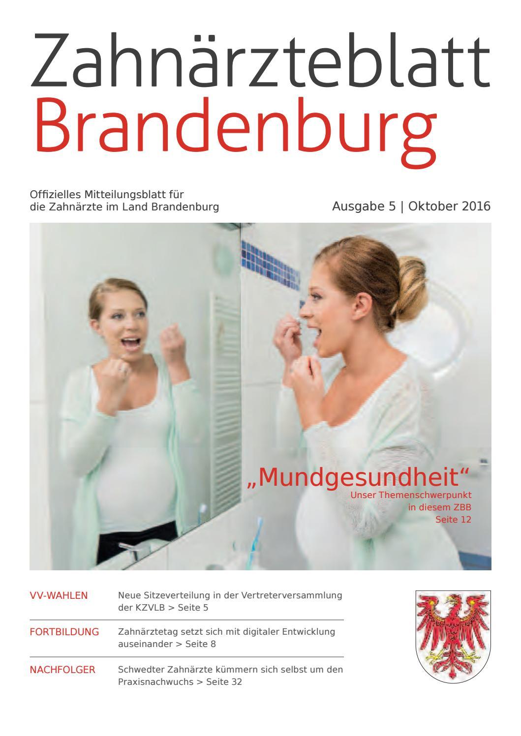 ZBB Ausgabe 5/2016 by KZVLB - issuu