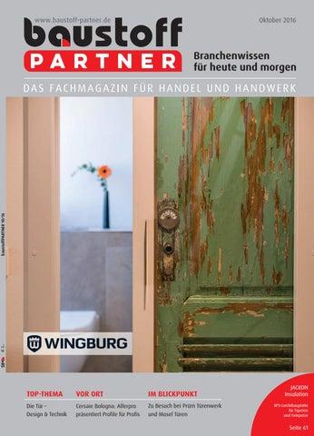 Baustoff Partner Oktober 2016 By SBM Verlag GmbH   Issuu