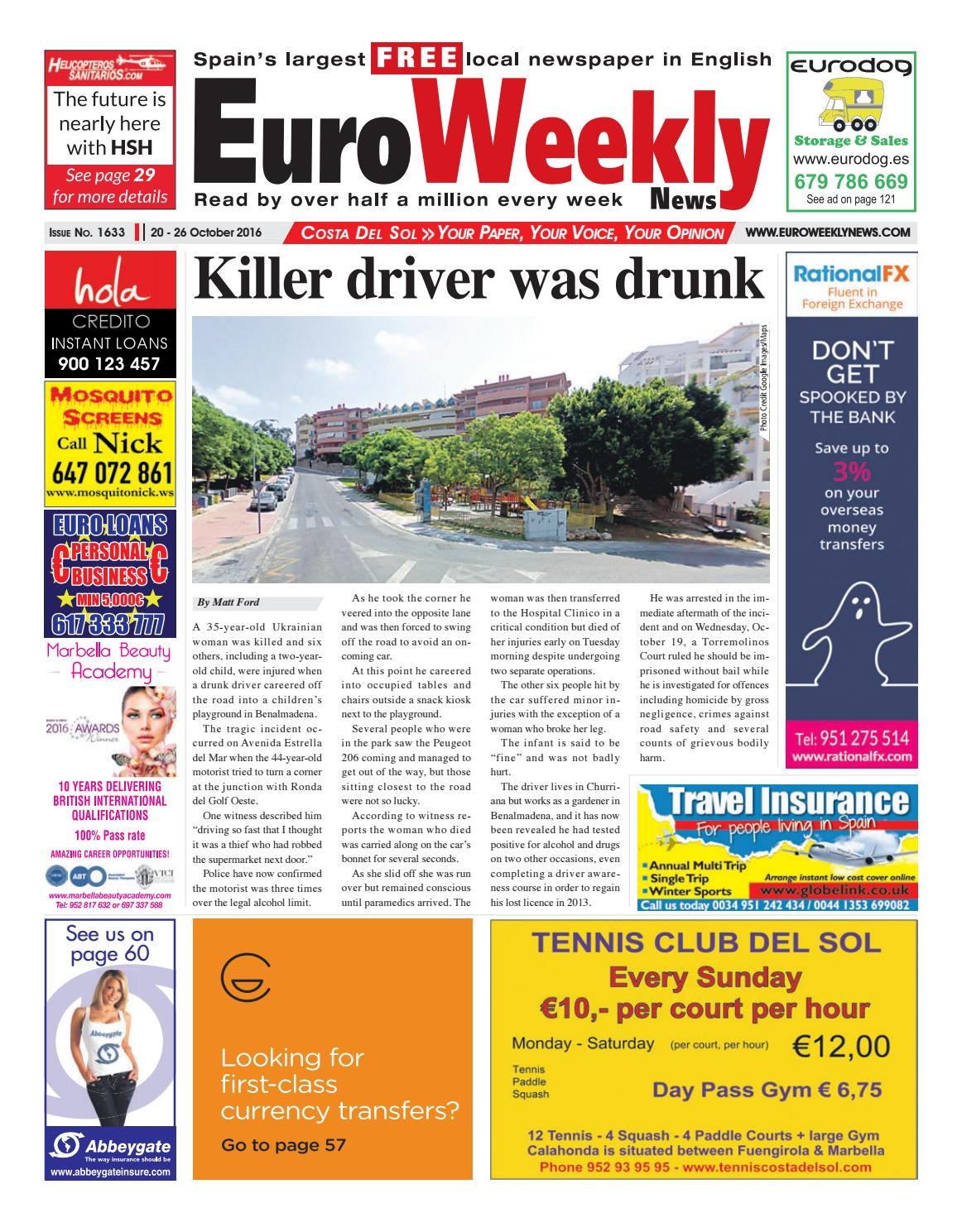 Euro Weekly News - Costa del Sol 20 - 26 October 2016 Issue 1633 by Euro  Weekly News Media S.A. - issuu 2d5f4d3d6f8