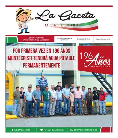 76228dd7bff98 La Gaceta - Edición Nº5 Oct 2016 by LA GACETA - GAD MONTECRISTI - issuu