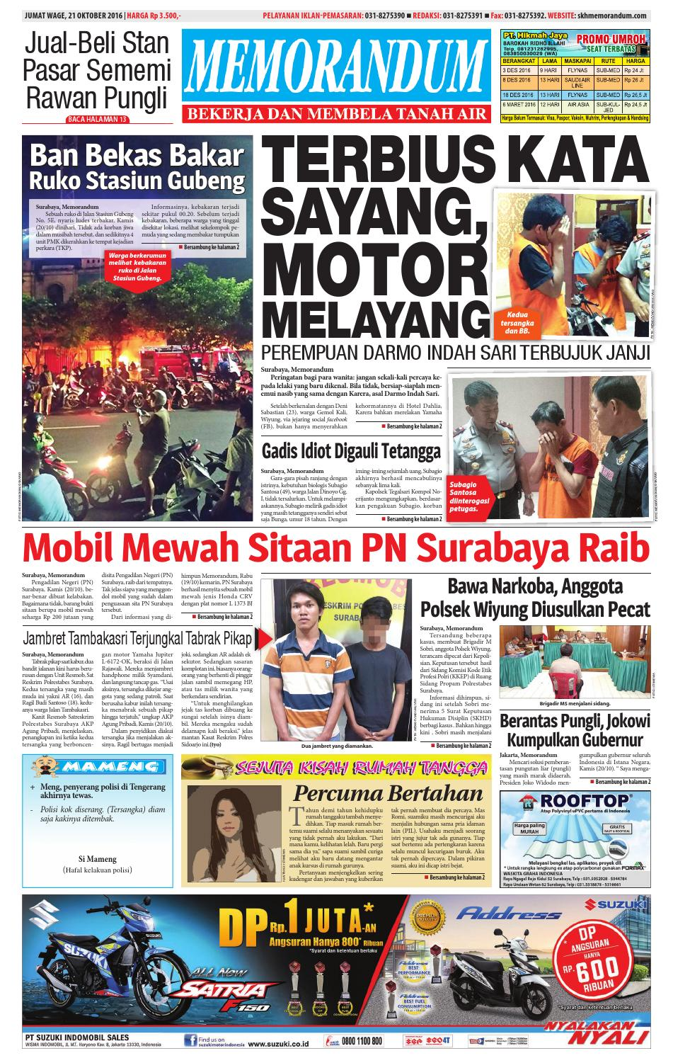 memorandum edisi 21 oktober 2016 by memorandum issuu
