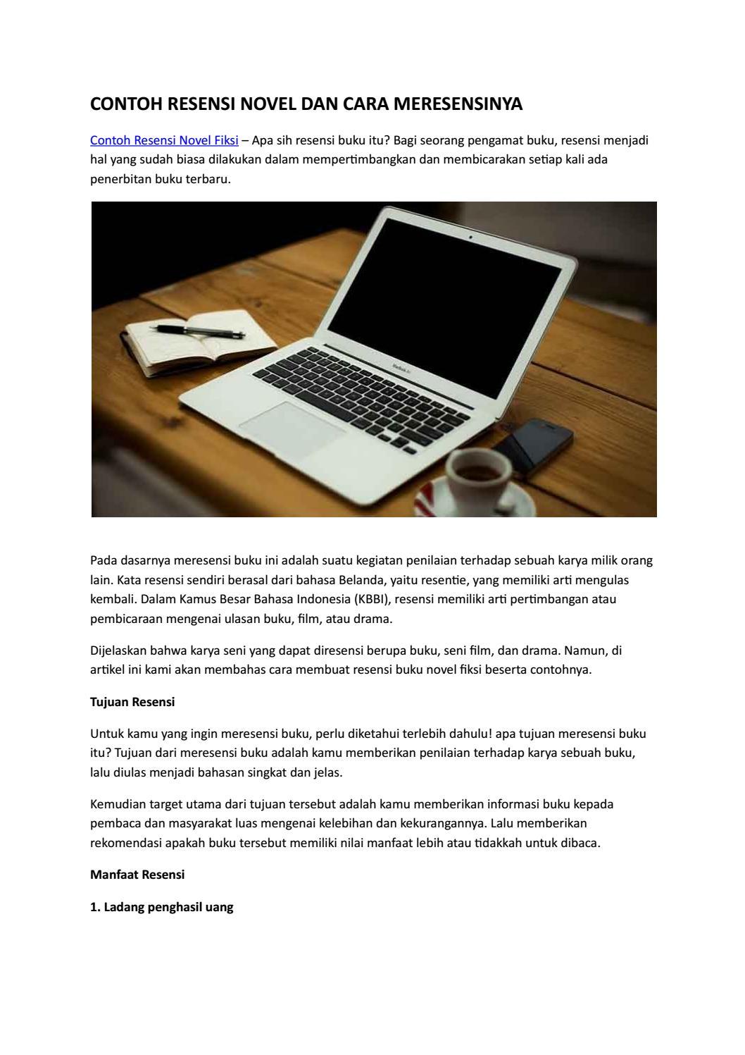 Summary 15 Contoh Resensi Novel Fiksi Lengkap Beserta Cara Meresensi