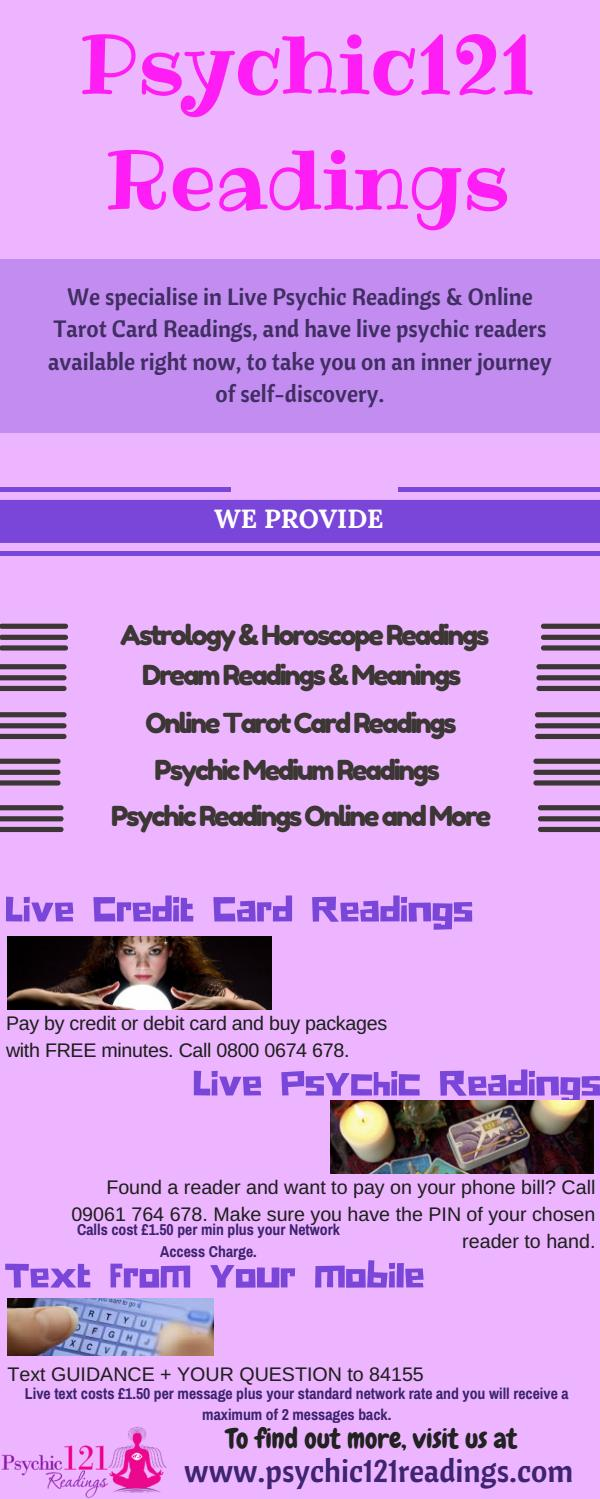 Psychic 121 Readings - One to One Online Psychic Services by