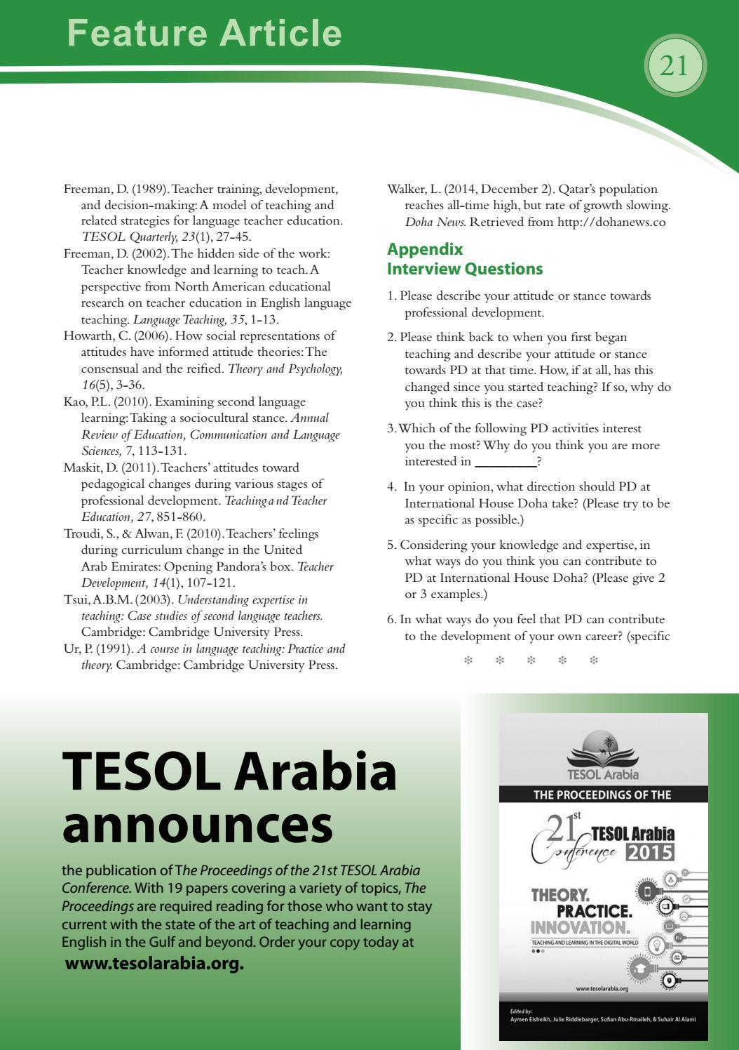feb 2016 by tesol arabia perspectives issuu