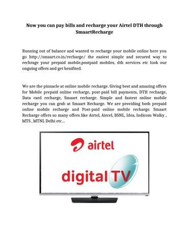 Airteldigitaltvrecharge