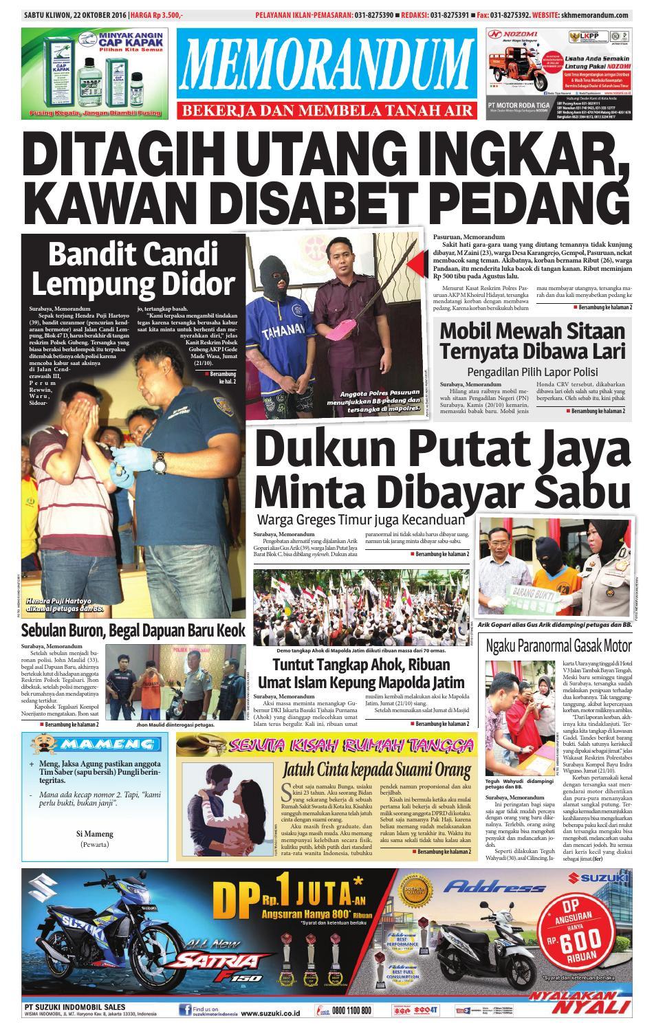 memorandum edisi 22 oktober 2016 by memorandum issuu