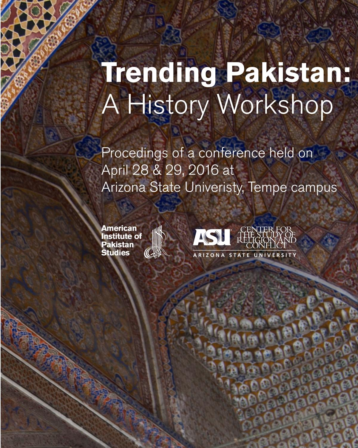 Trending Pakistan: A History Workshop by Center for the