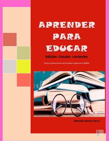 Aprender Para Educar By Gabriela Alonso Issuu