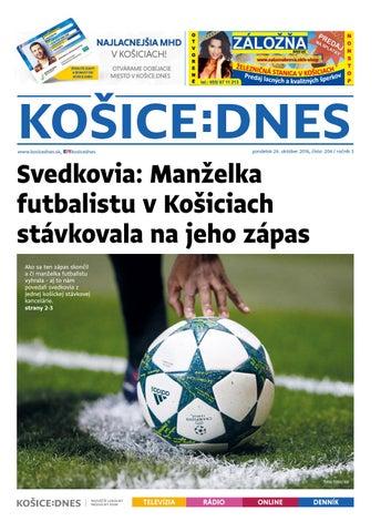 KOŠICE DNES 24.10.2016 by KOŠICE DNES - issuu 8c50693da8a