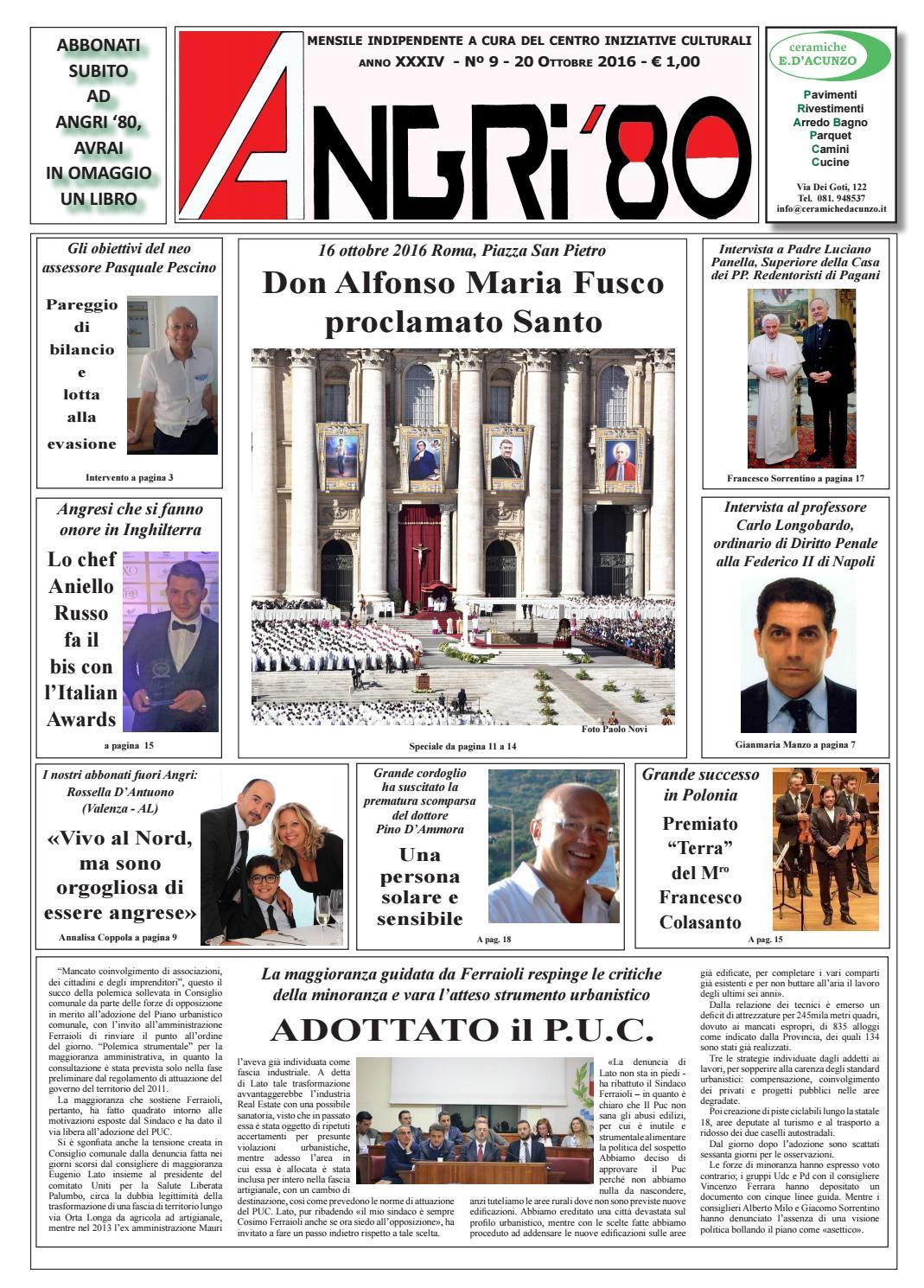 angri 80 ott 2016rettificato by lombardi antonio - issuu - Arredo Bagno Angri
