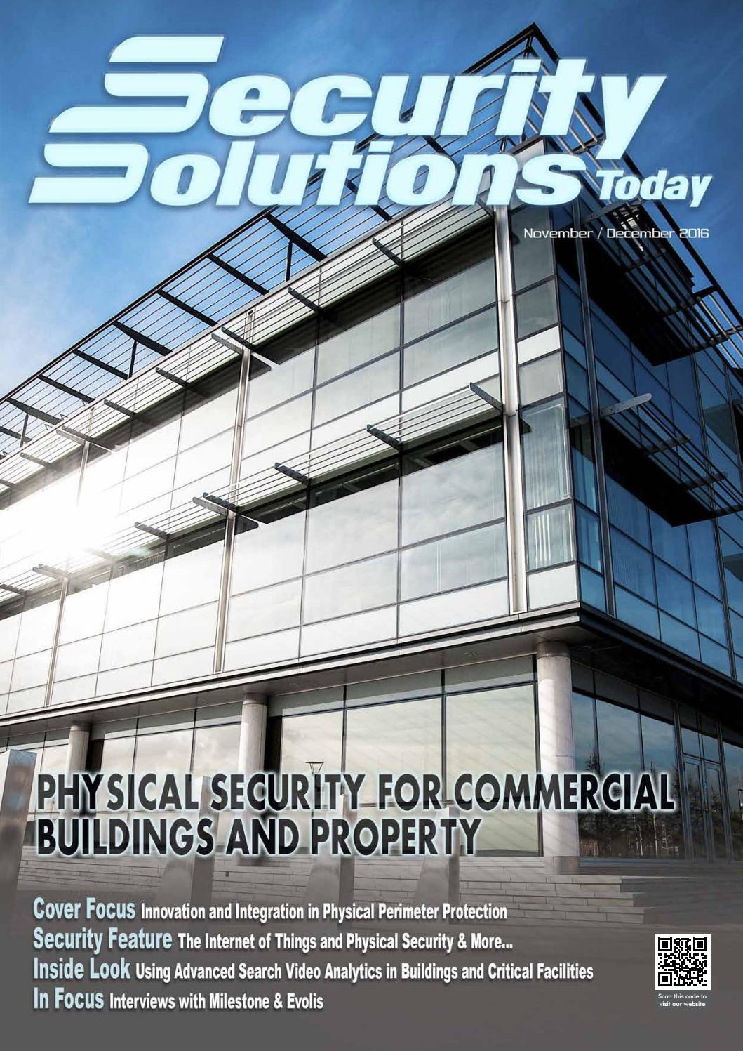 Security Solutions Today : Nov-Dec 2016