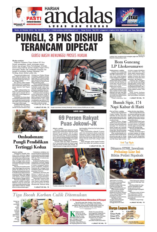 Epaper Andalas Edisi Senin 24 Oktober 2016 By Media Issuu Warior Lc Pendek All Black Sekolah Prsmuka Kerja Santai Main Anak Dewasa