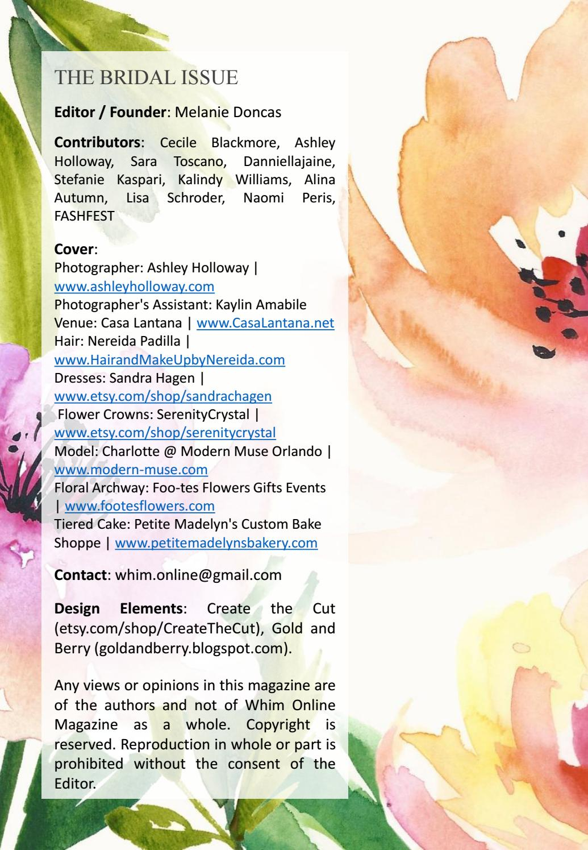 Whim online magazine bridal issue by whim online magazine issuu izmirmasajfo
