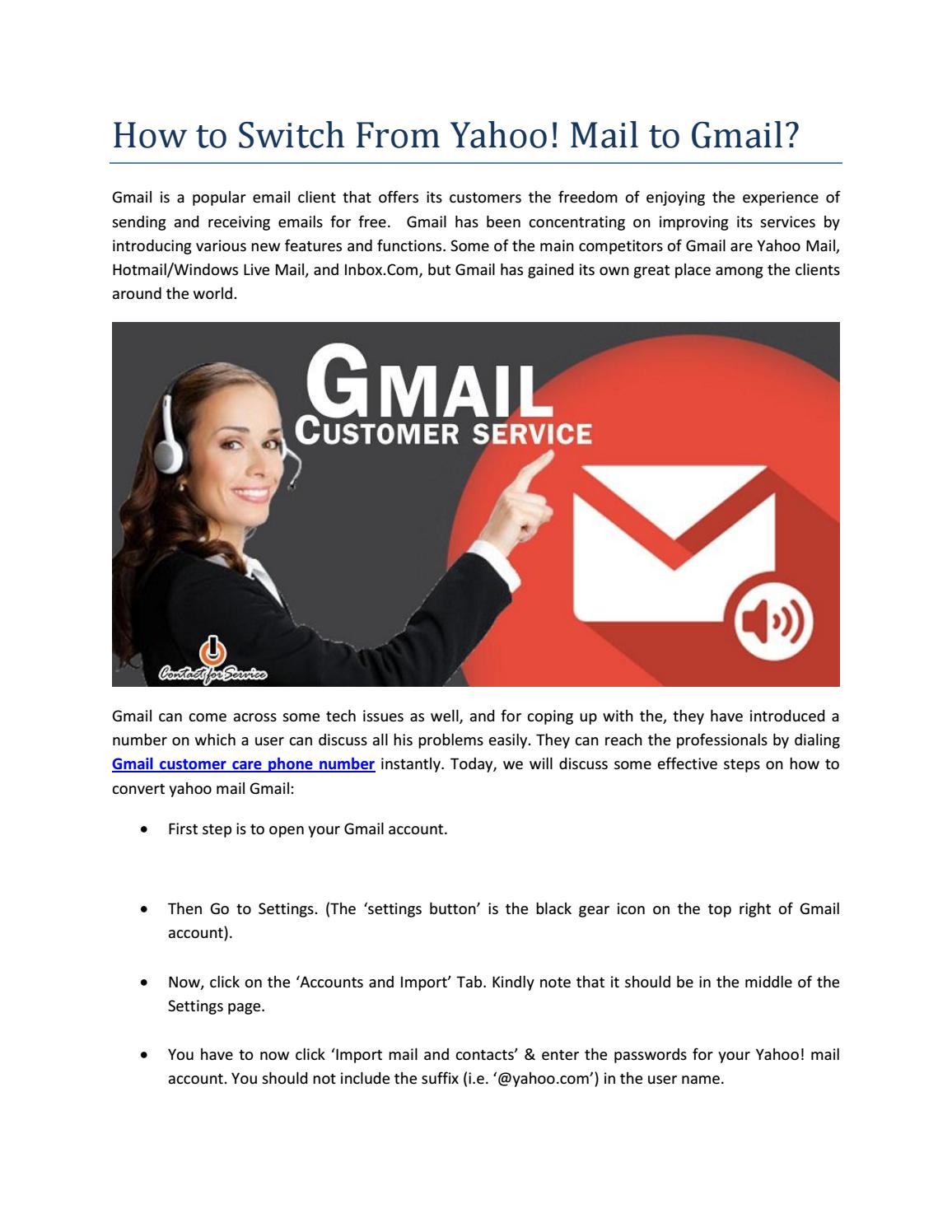 How to Switch From Yahoo! Mail to Gmail? by JonCarton - issuu