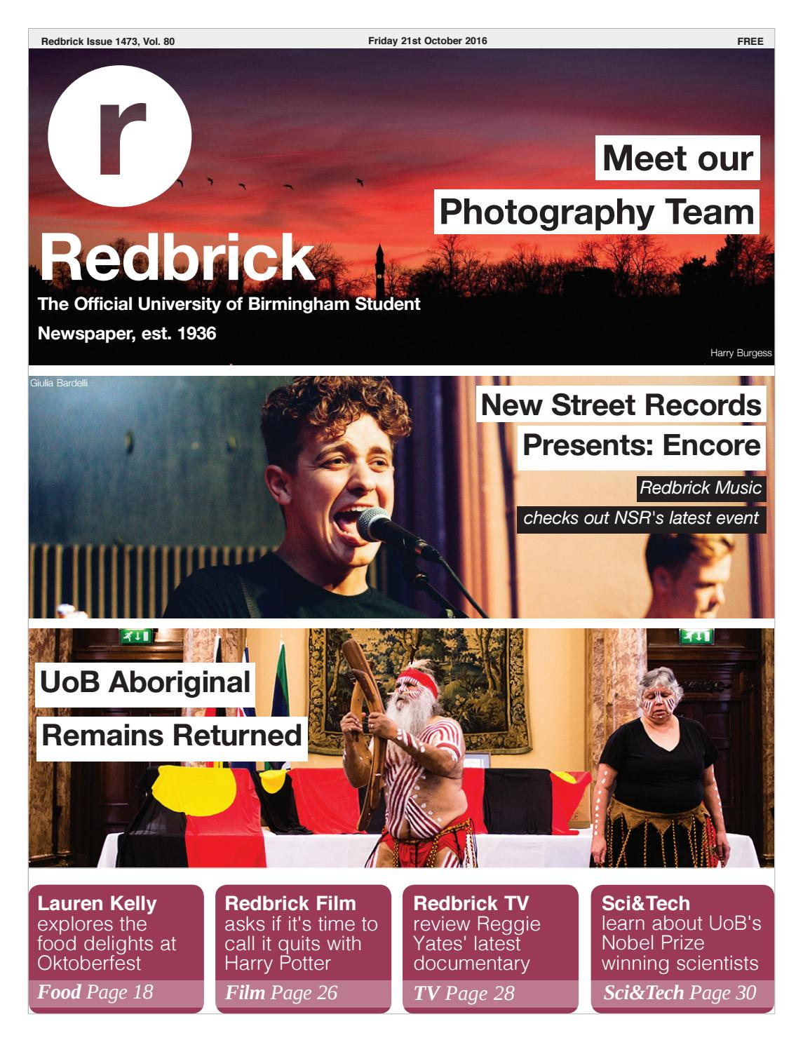 Redbrick - Issue 1473 by Redbrick - issuu