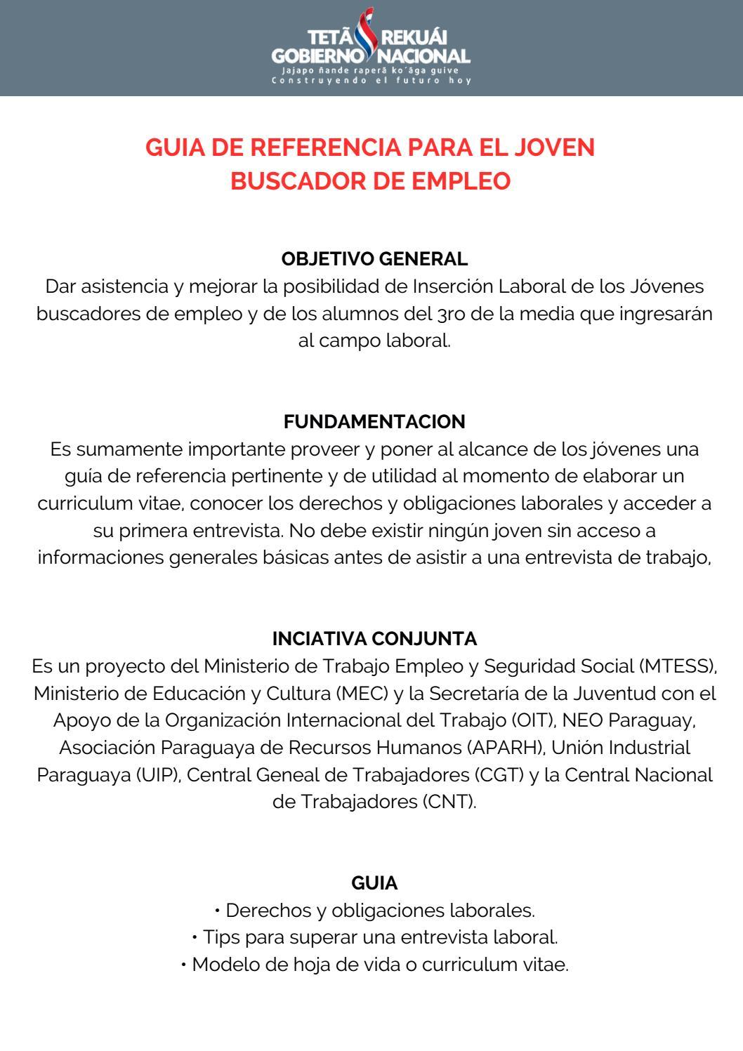 Guia busqueda empleo joven by Jorge Veron - issuu