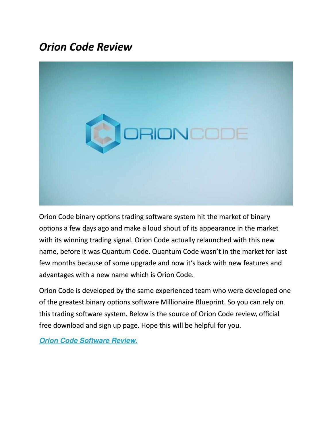 Orion code review by binary software issuu malvernweather Images