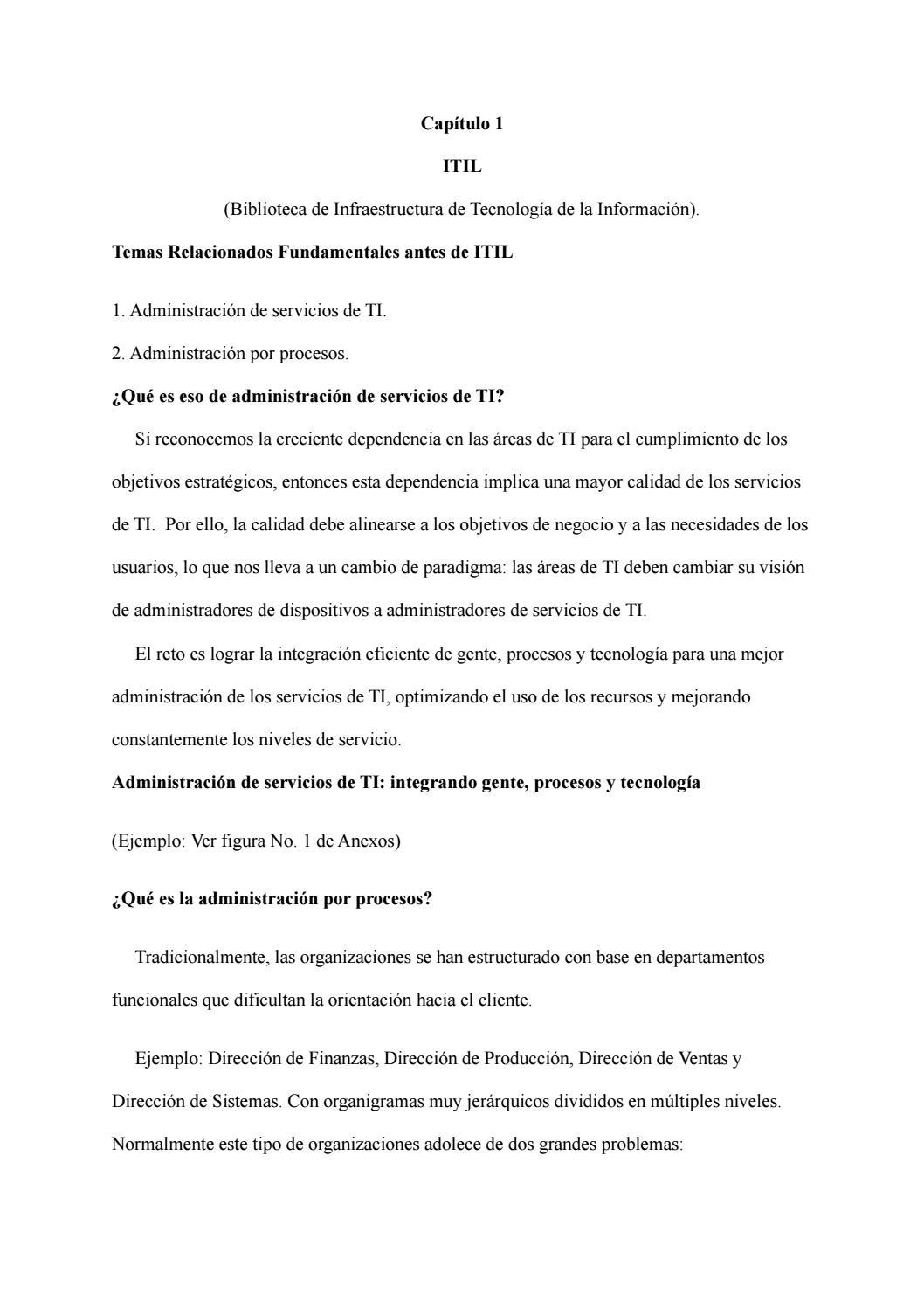 Resumen ejecutivo itil by Andrea Alvarado - issuu