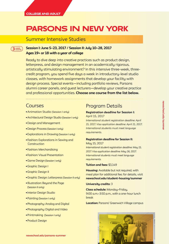 The New School Summer Programs 2017