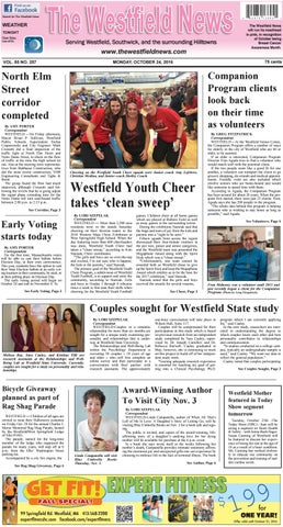 Monday October 24 2016 By The Westfield News