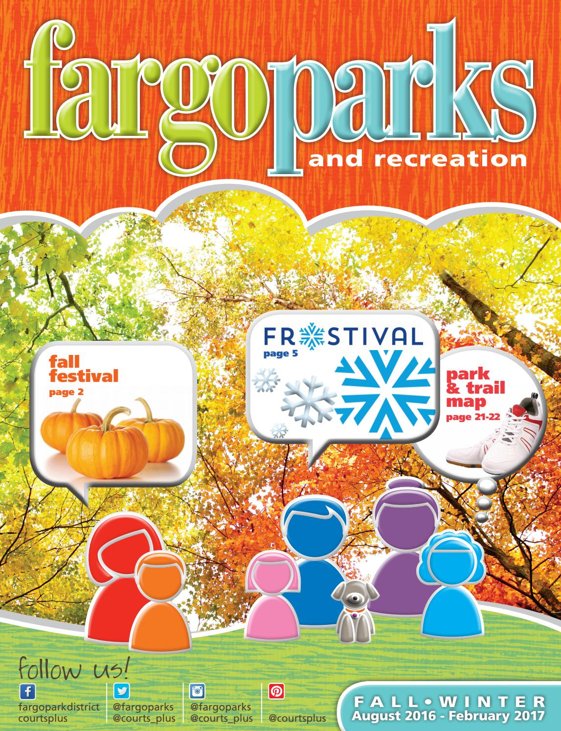 Fargo Parks And Recreation Fall Winter Catalog 2016 2017 By Fargoparks Issuu