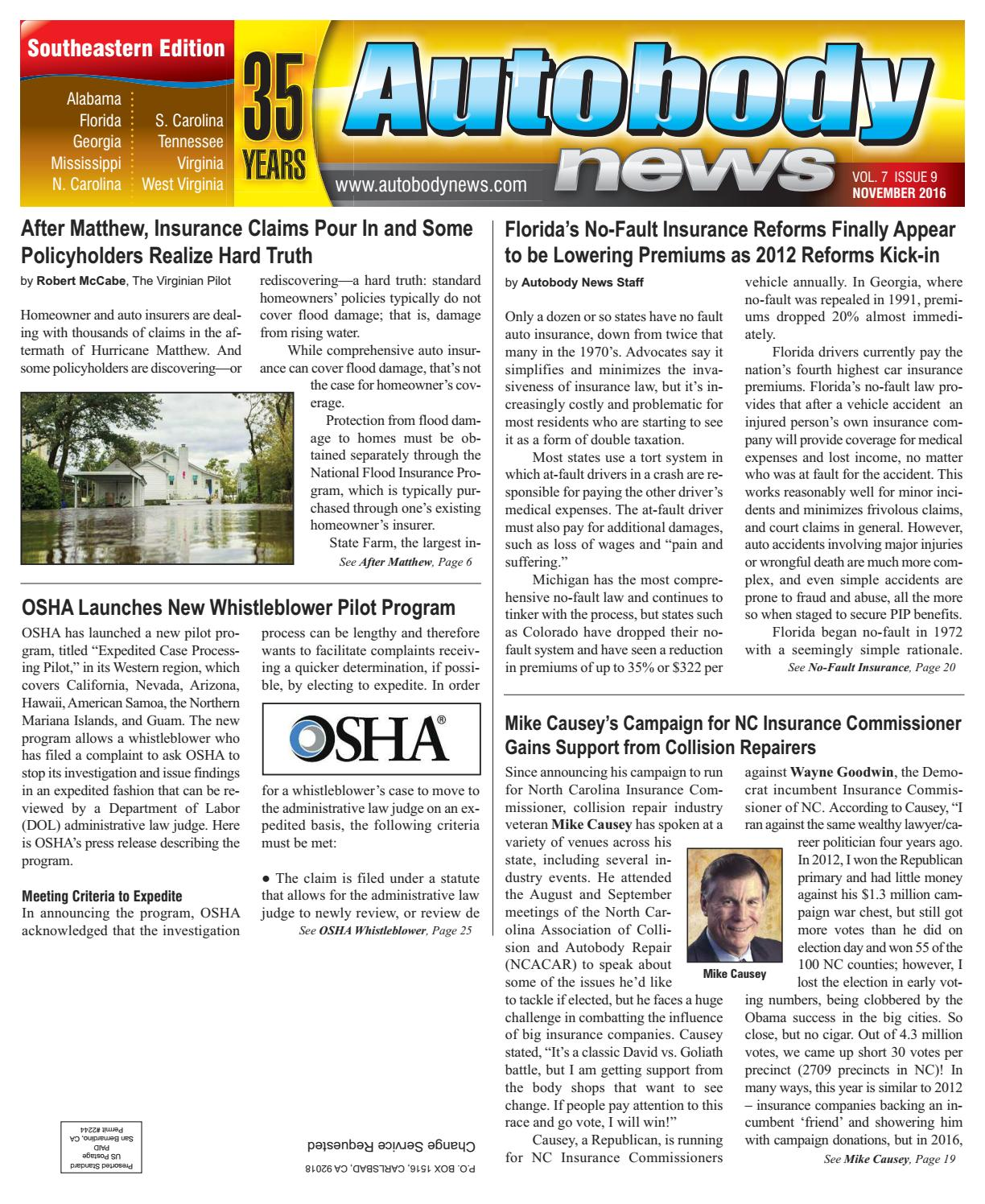 November 2016 Southeastern Edition By Autobody News