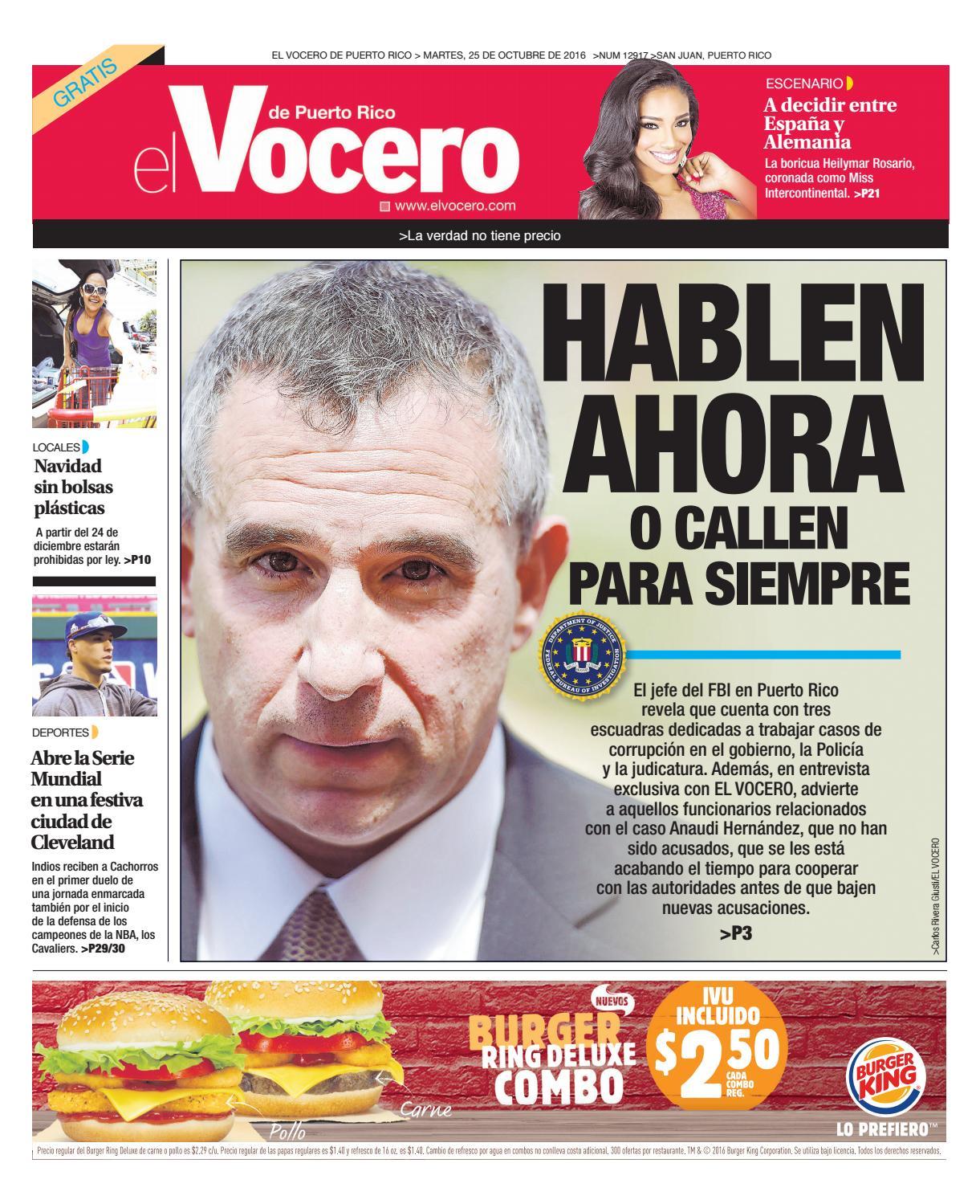 0eec0fe975ee9 Edición 25 de Octubre 2016 by El Vocero de Puerto Rico - issuu