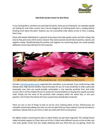 Mail Order Garden Center For Best Plants By Newlifenursery1 Issuu