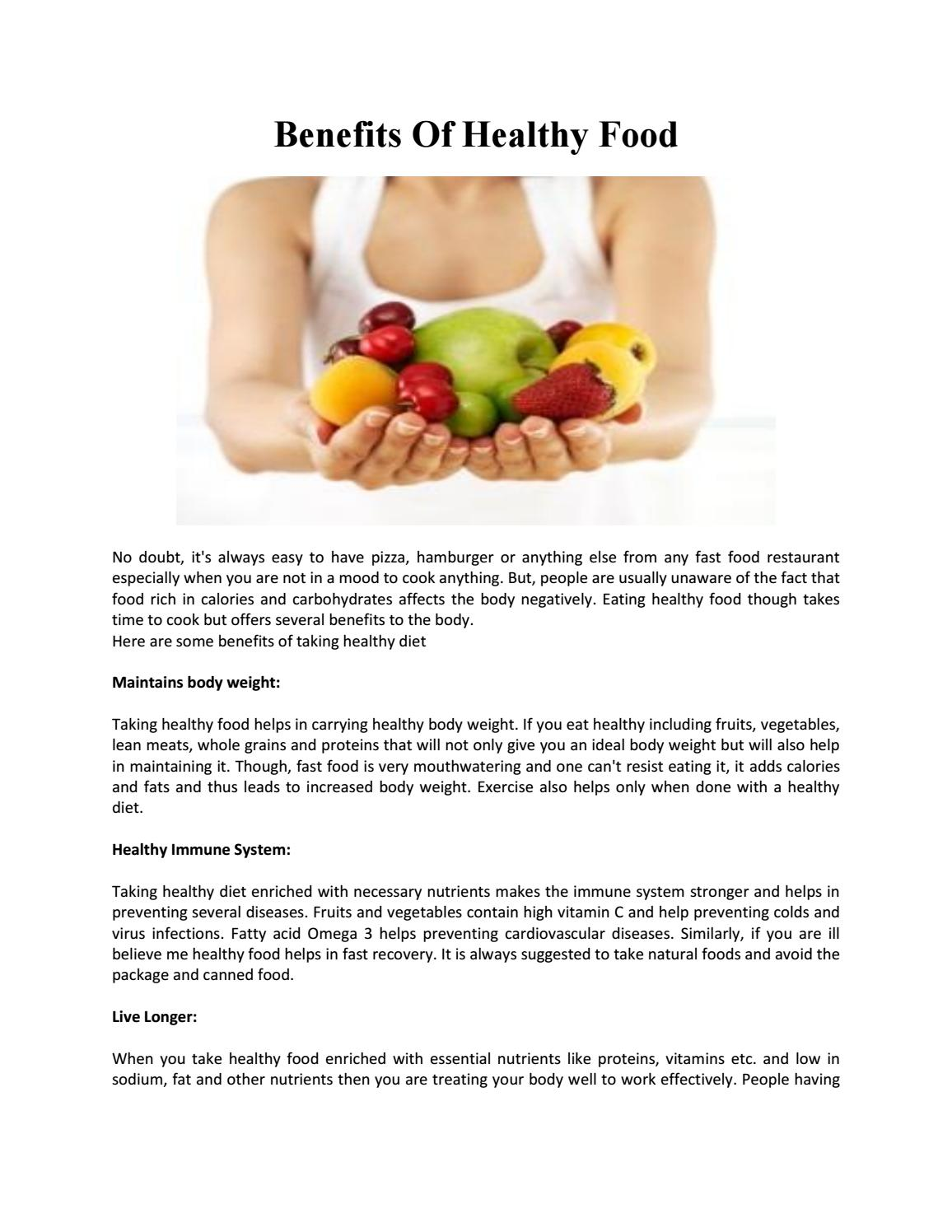 how a healthy diet affects the body