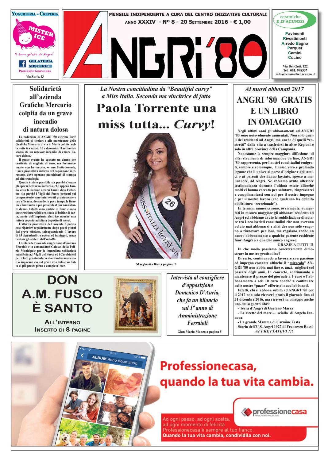angri 80 sett 2016 by lombardi antonio - issuu - Arredo Bagno Angri