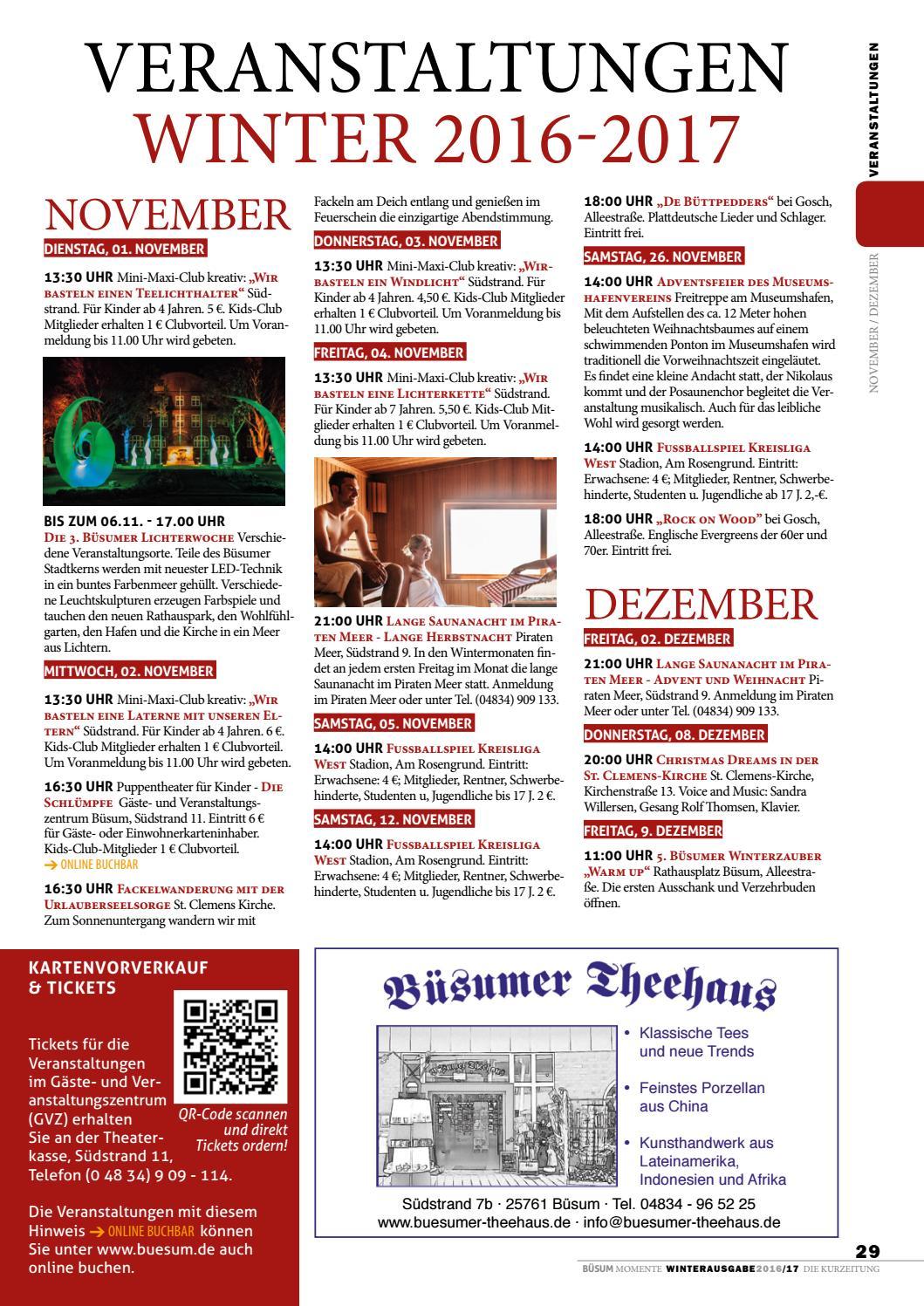 Büsum Momente Wintermagazin 20162017 By Nordsee Heilbad