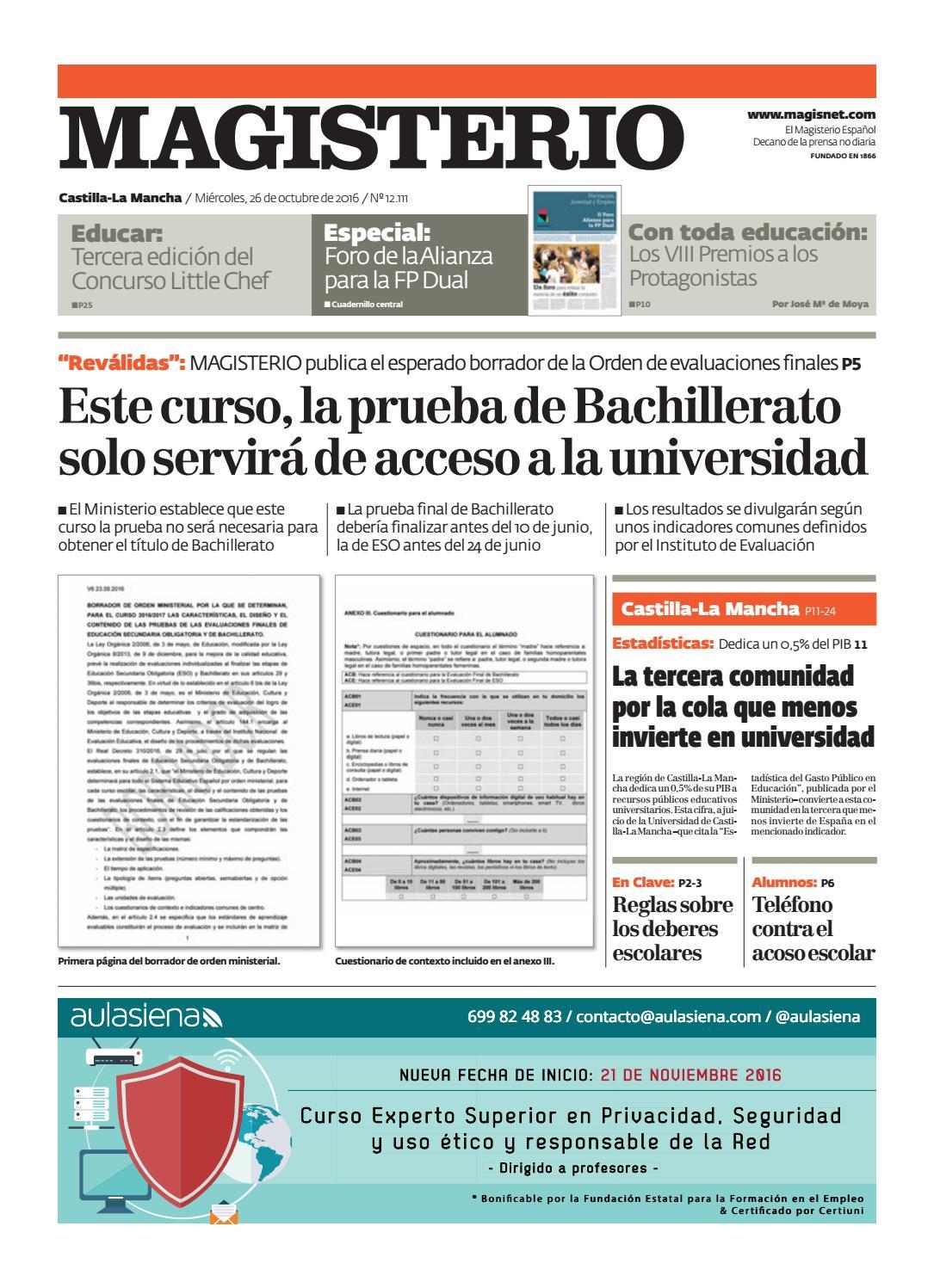 Magisterio Nº 12111 Edición Castilla La Mancha By Grupo