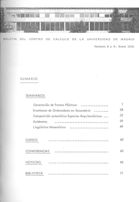 Boletin CCUM 1970 n 8 9 10 11 12 13 by Aramis López Juan - issuu