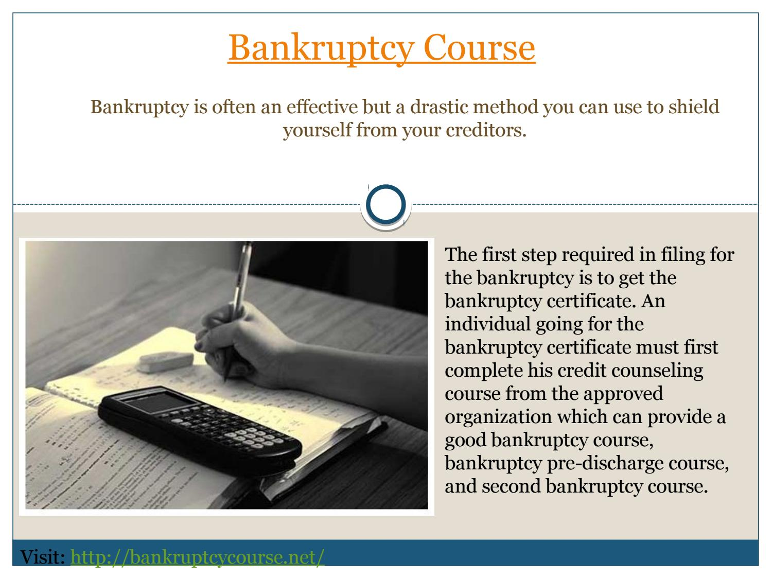Bankruptcy Course By Bankruptcycourse Issuu
