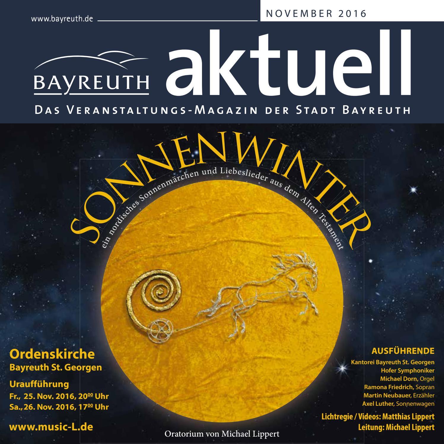 Bayreuth Aktuell November 2016 by Bayreuther Sonntagszeitung - issuu