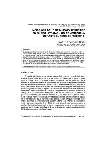 Revista Venezolana De Análisis De Coyuntura Volumen Xx Nº1 Enero