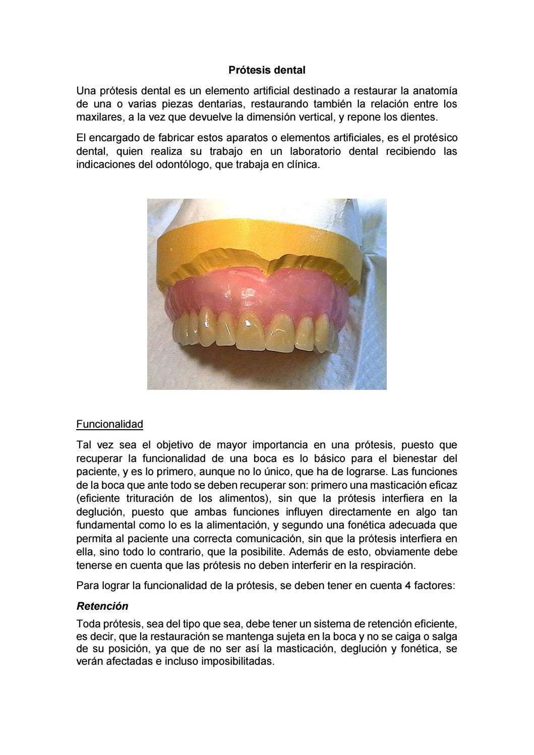 Prótesis dental by Paola Pacurucu - issuu