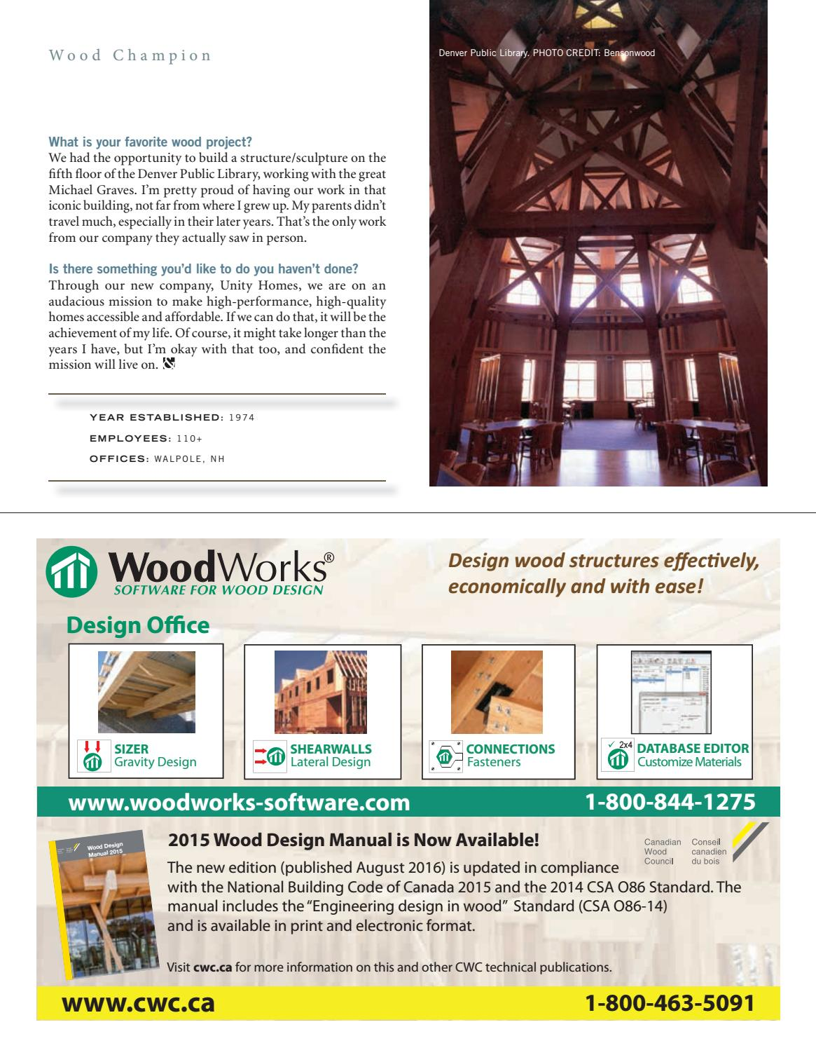 wood design building fall 2016 by dovetail communications issuu rh issuu com LRFD Design Manual LRFD Design Manual