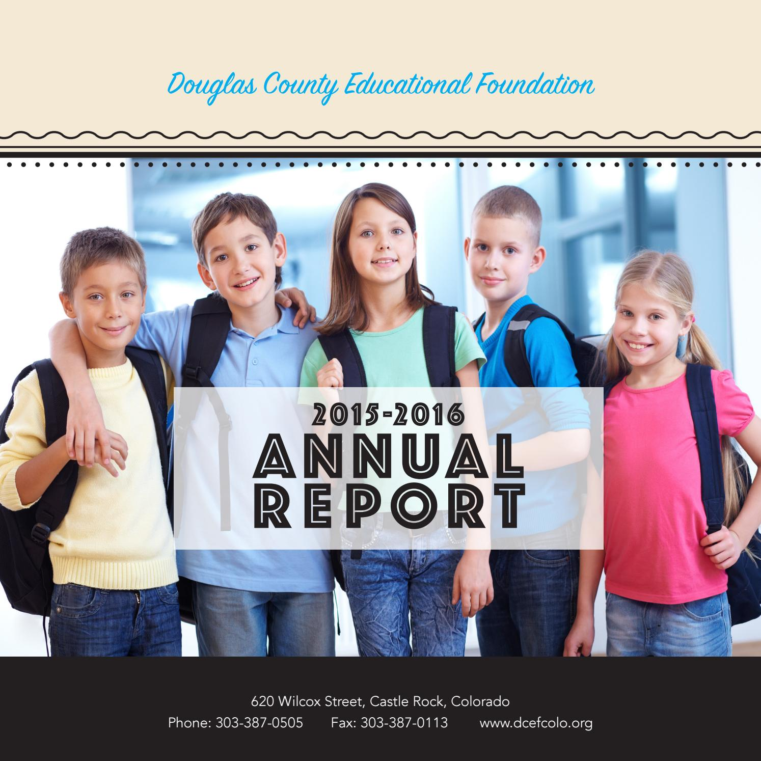 DCEF Annual Report By Douglas County School Distrct