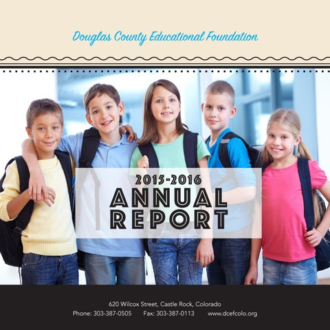 Dcef Annual Report By Douglas County School Distrct Issuu