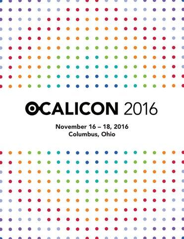 Ocalicon program 2016 by ocali issuu 2016 november 16 x20acx201c 18 2016 columbus ohio malvernweather Gallery