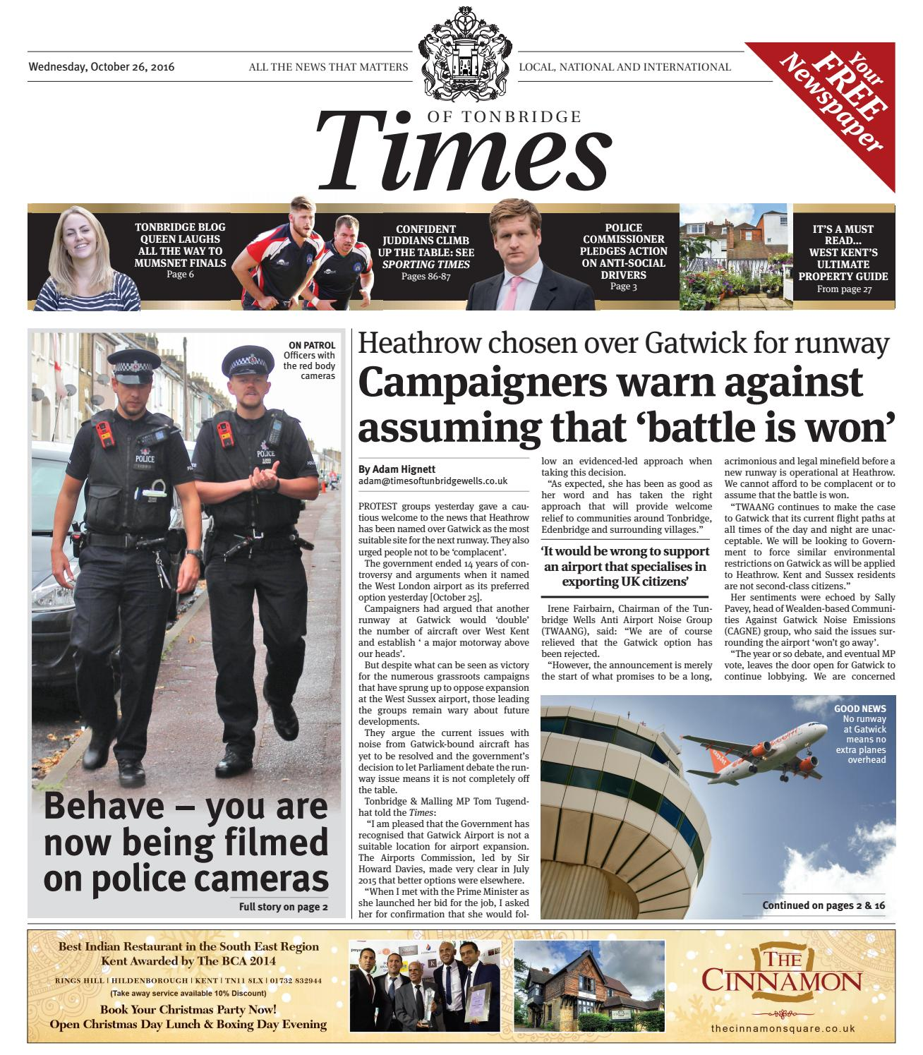 Times of Tonbridge 26th October 2016 by One Media - issuu