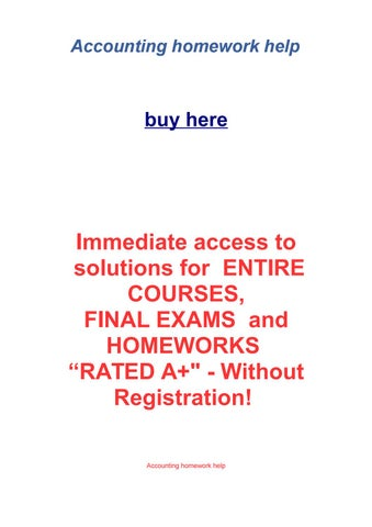 Accounting homework help by roman nelson issuu page 1 fandeluxe
