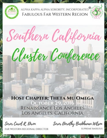 be3ca6b1e 2016 Southern California Cluster Conference Booklet by AKA Far ...