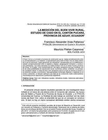 Revista Venezolana De Análisis De Coyuntura Volumen Xxii Nº 1 Enero