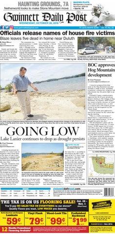 October 26, 2016 — Gwinnett Daily Post
