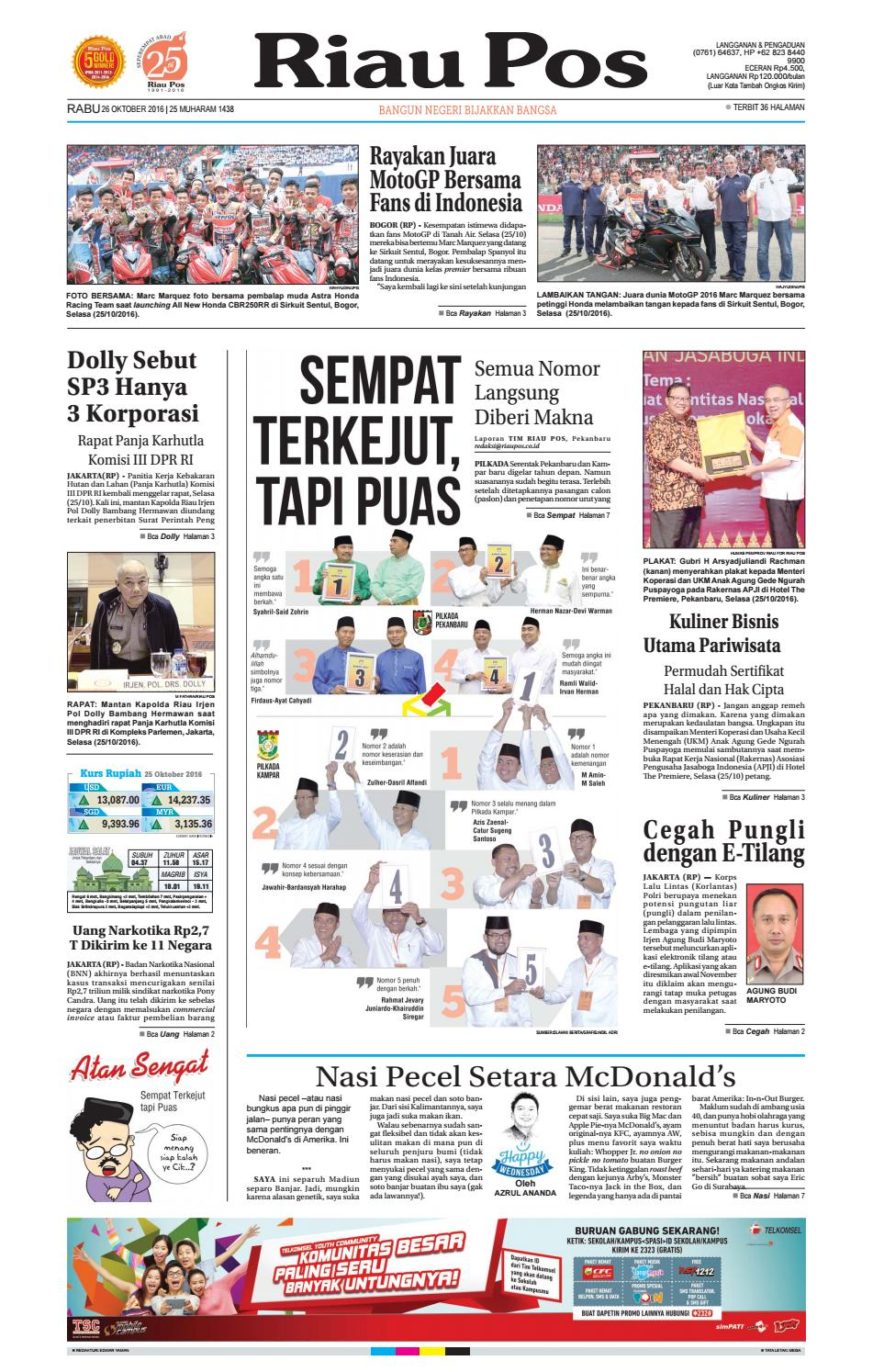 2016 10 26 By Riau Pos Issuu Produk Ukm Bumn Chesse Pie Khas Balikpapan