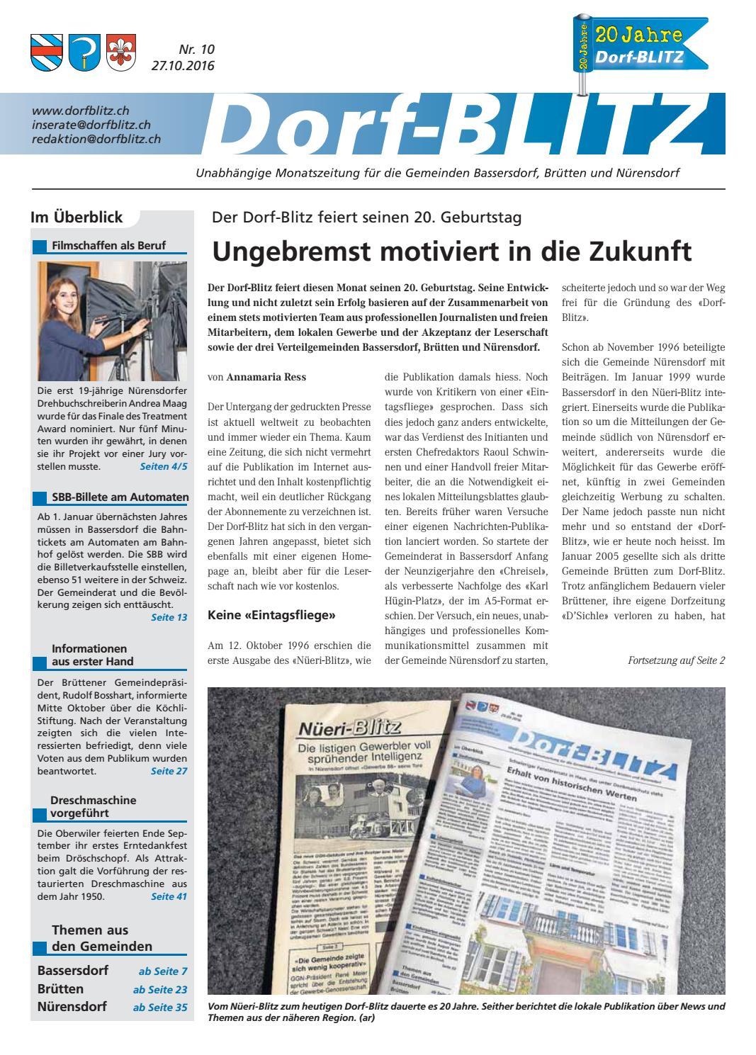 Dorf-Blitz Oktober 2016 by Dorf-Blitz - issuu